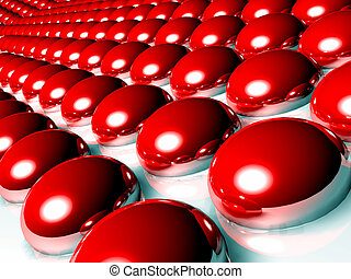 Red 3d spheres.