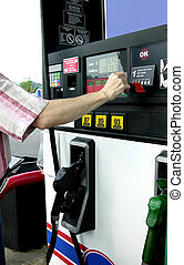 Pumping Gas - Paying for self serve gasoline at a self serve...