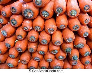 Markets - Carrots - Fresh Orange Carrots at the markets