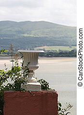 Urn on a plinth