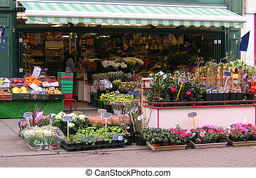 florist shop on a high street