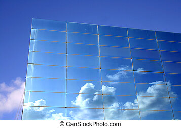 Sky Reflected - Sky reflected on glass facade
