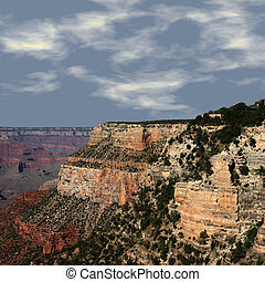 Grand Canyon at Sunset - View of the Grand Canyon taken at...