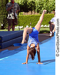 Gymnast - Girl at summer gymnastic camp