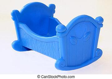 Baby cradle - Blue toy cradle
