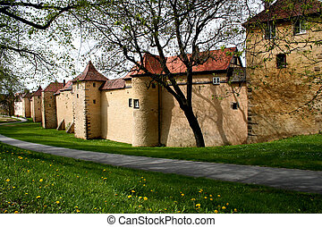 City Wall - Digital photo of the old city wall in...