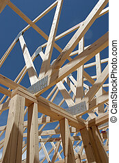 house frame construction - the seeming chaos of a house...