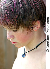 Teen Boy Profile - Teenage boy with pink highlights