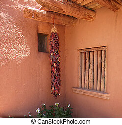 Adobe and Ristra - No self-respecting southwestern abode...