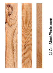Three pieces of wood - High res of 3 pieces of wood Isolated...