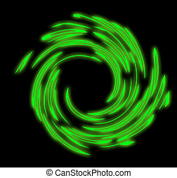 swirl - Abstract black-green glowing swirl