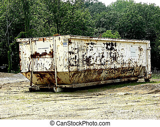 Rusty Dumpster - Construction - Rusty Old Dumpster *** A...
