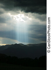 Heavens spotlight - Storm in Colorado
