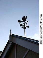 Rooftop Weathervane - Weathervane on rooftop
