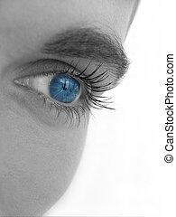 Blue eye - Close up of an eye