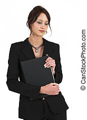 Business Lady 58 - Business woman with black file
