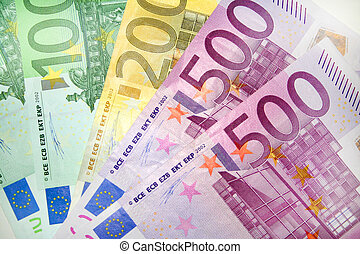 euro, note, 3