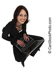 Business Lady #60 - Business woman with notebook computer