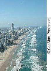 Coastline - Coast Line of Surfer Paradise, Gold Coast