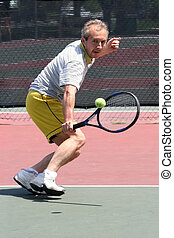 Tennis player - man playing tennis