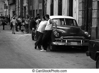 Cuban Street - Street Scene In Havana Cuba