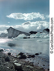 Jokulsarlon Iceland - A glacial lake in Iceland near the...
