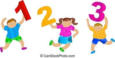 Groovy Numbers - kids holding numbers