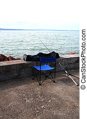 Lonesome - Digital photo of fishing-gear taken in Siofok on...