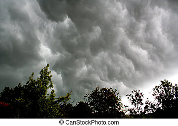 Thundercloud - Digital photo of a sky with thunderclouds.