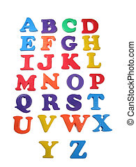 Alphabet - Colorful alphabet letters