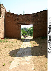 Path to the Future - Path through distant doorway leading to...