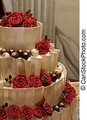 Wedding cake - White chocolate wedding cake