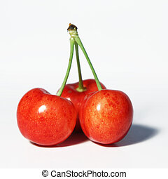 Three together - Three cherries symbolizing a relationship...