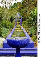 Moroccan Garden - A view on a moroccan residential garden