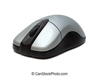 wireless mouse - wireless computer mouse over white