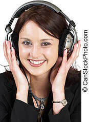 Music 7 - Woman with earphones