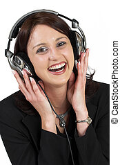 Music 9 - Woman with earphones