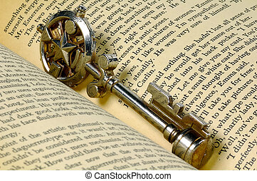 Key To Knowledge - Decorative Key in a Book