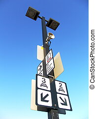 Train station sign - Train station track number sign. Taken...