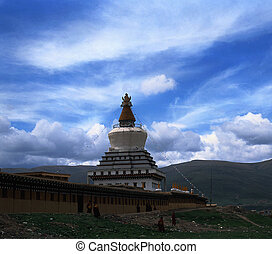 White Tower - The stupa in Tibet