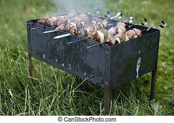 shashlik 5 - shashlik, dish consisting of lamb meat and...