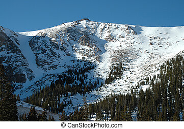 Pike's Peak - Winter on Pike's Peak near Colorado Springs,...