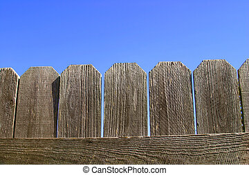 Wooden Fence Closeup - A closeup of a wooden fence against a...
