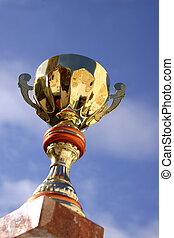 Trophy and Sky - Trophy against blue sky