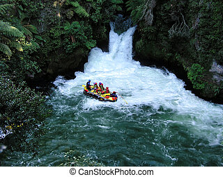 Whitewater rafting in Rotorua, New Zealand