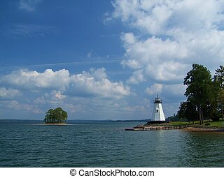 Lakeside - Lighthouse on lake