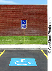 handicap parking van acccessible - handicap parking spot at...