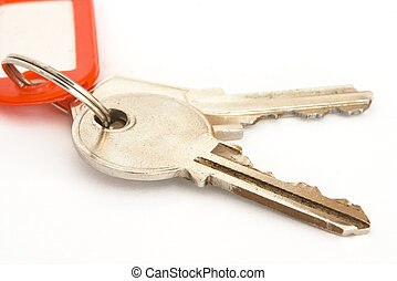 Keys and tag - House keys on a ring with a blank tag