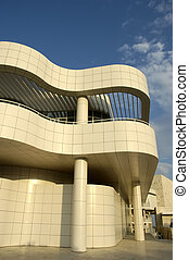 Modern Architecture - The Getty Center entrance in Los...