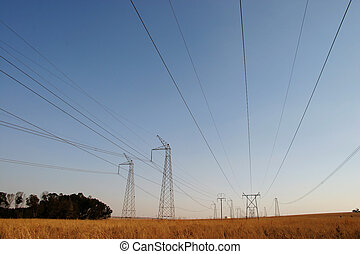 Powercables 2 - Powerlines running through a national park